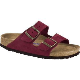 Birkenstock Arizona SFB Sandalen Wildleder Damen antique port